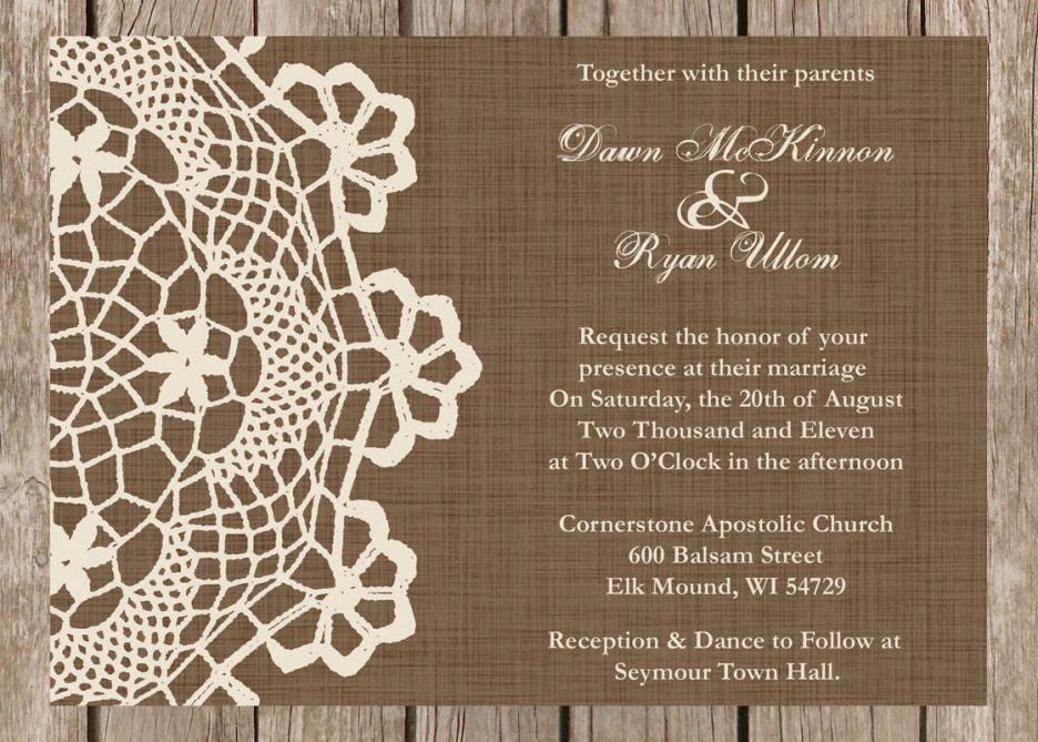 Wording Of Wedding Invitations: Rustic Wedding Invitations Templates