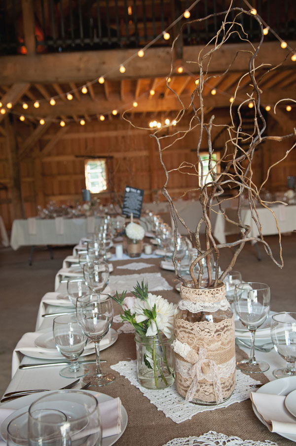 Burlap And Lace Wedding Decor Image Collections Decoration