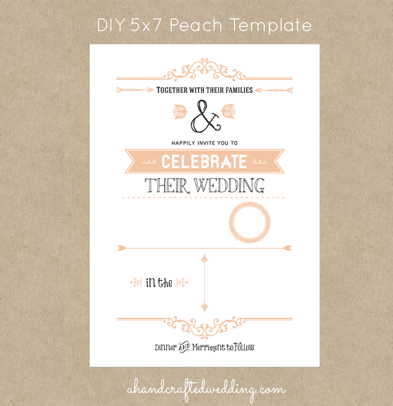 Country wedding invitation templates free for Free rustic wedding invitation templates