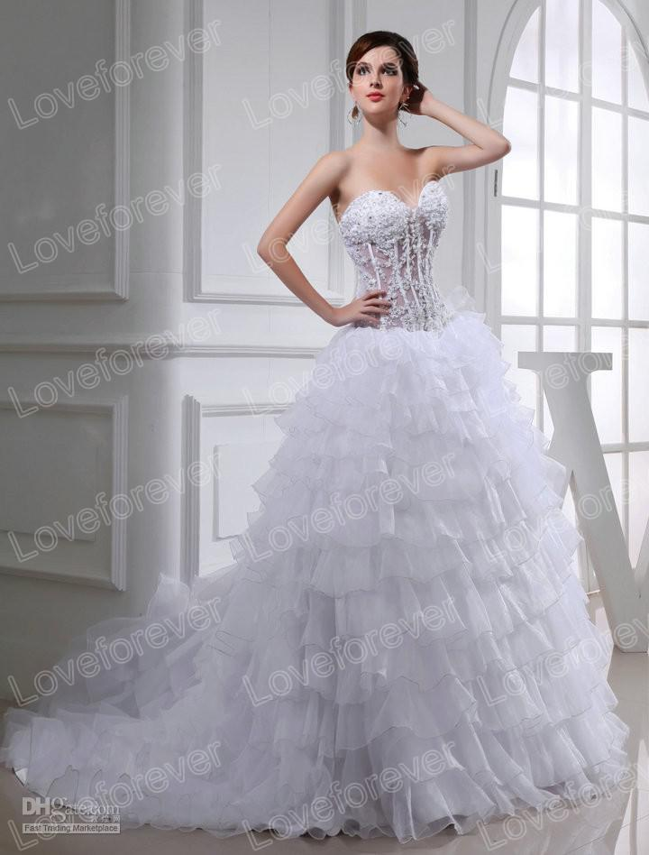 Corset Top Wedding Dress