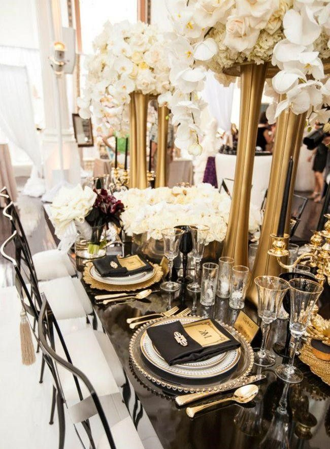 black silver wedding decorations black gold and ivory wedding ideas 1865