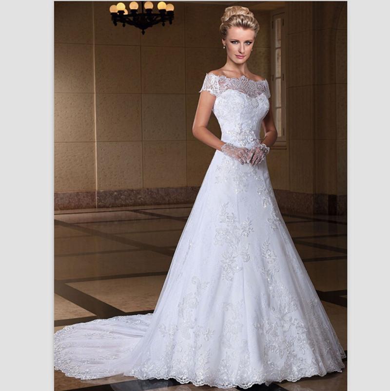 white lace wedding dress. Black Bedroom Furniture Sets. Home Design Ideas
