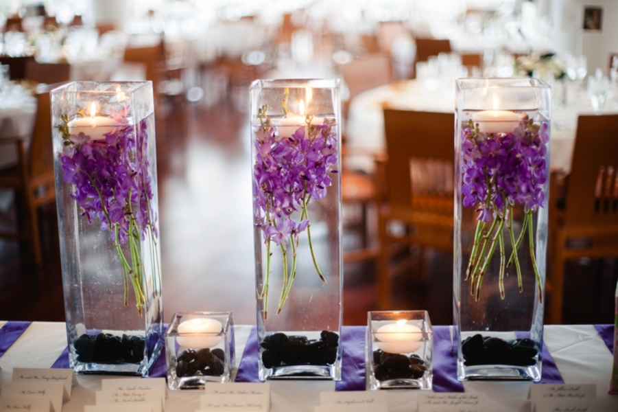 Plum Purple Wedding Flowers Centerpiece Sophisticated Destination Reception In Washington Dc