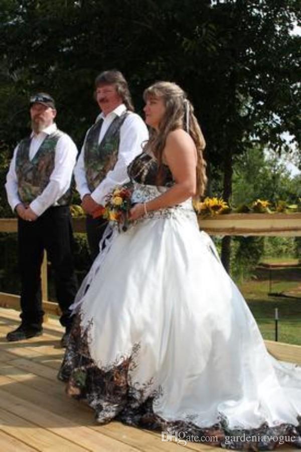 Camo Wedding Dress For Plus Sizes