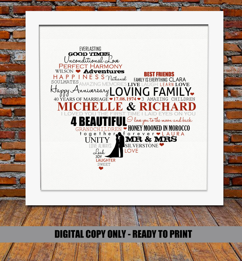 Silver Wedding Anniversary Gift Ideas For Parents: 40th Wedding Anniversary Gifts For Parents Ideas
