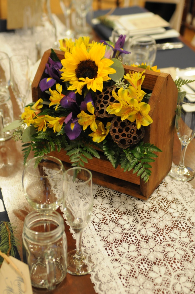 Sunflower centerpieces for wedding