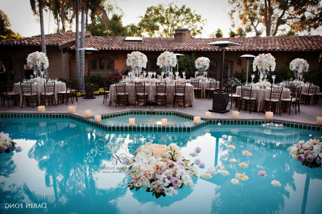pool decorations for wedding. Black Bedroom Furniture Sets. Home Design Ideas