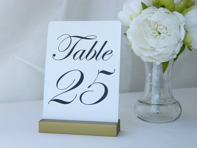 Table Number Holders For Wedding Reception Gallery - Wedding ...