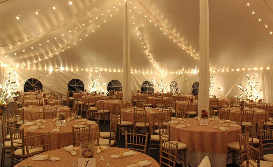 String Lights For Wedding Tent