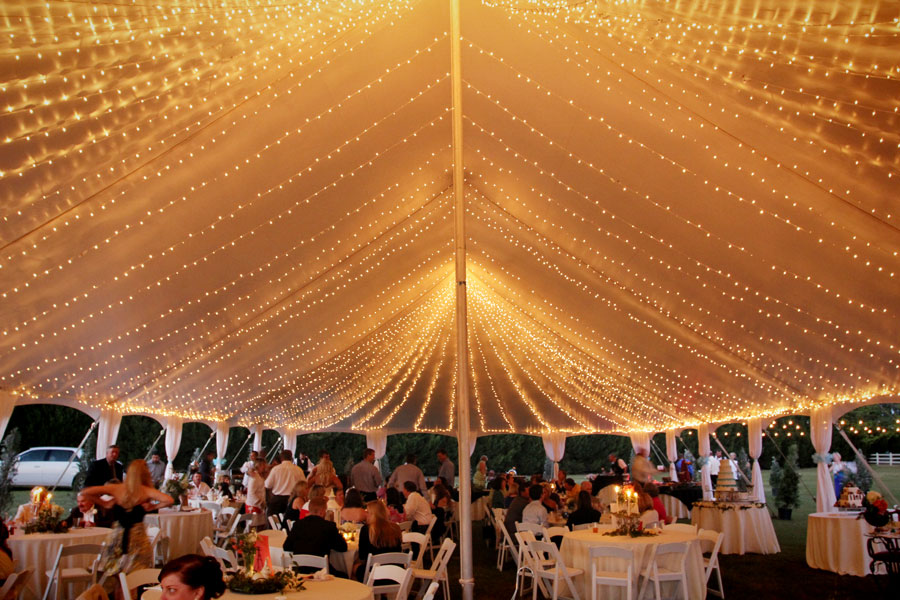 Tent Lighting Ideas & String Lights For Wedding Tent