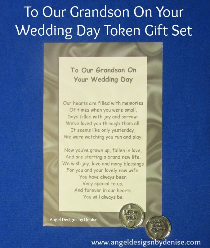 To Our Son On Your Wedding Day Token Set This Poem With A Pewter