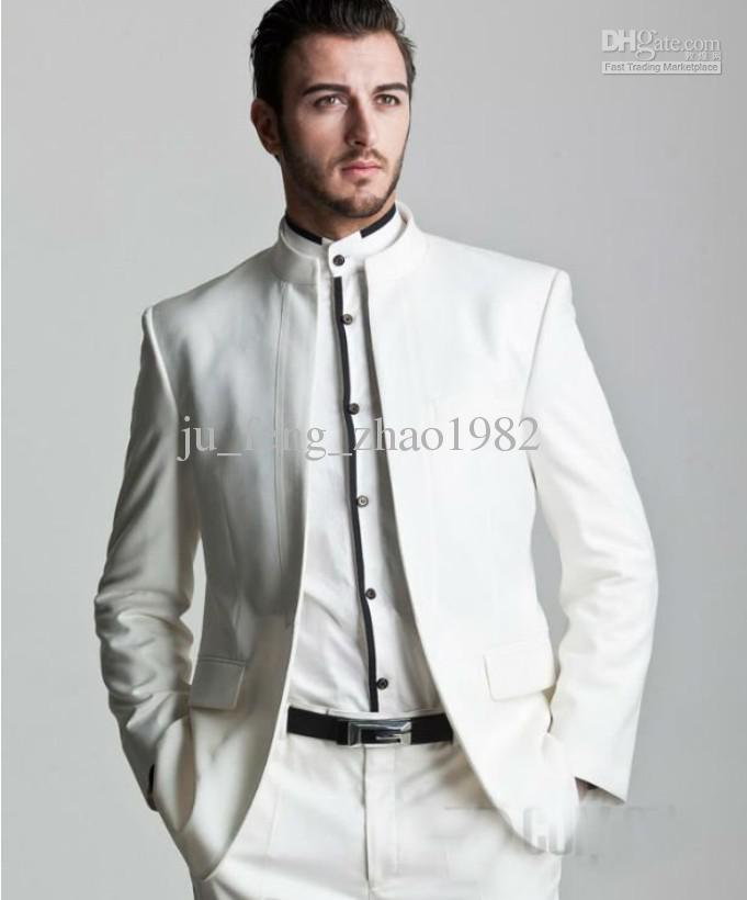 White Suit For Groom Wedding