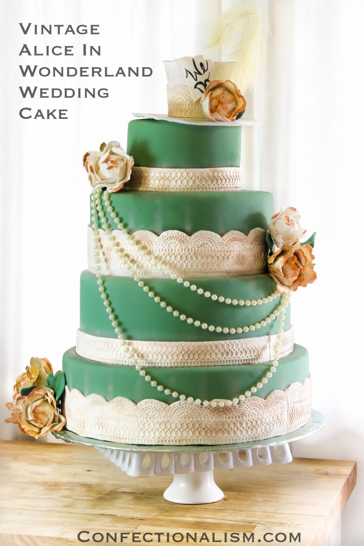 Alice And Wonderland Wedding Cake