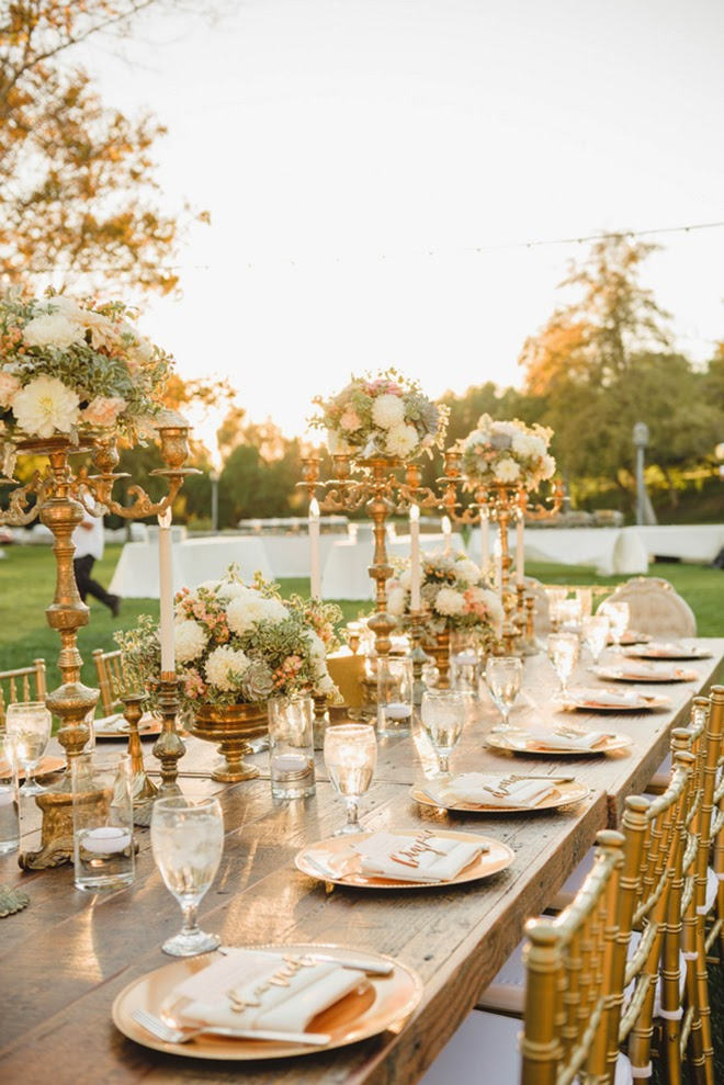 Vintage Glam Ivory And Gold Wedding Mora Photography