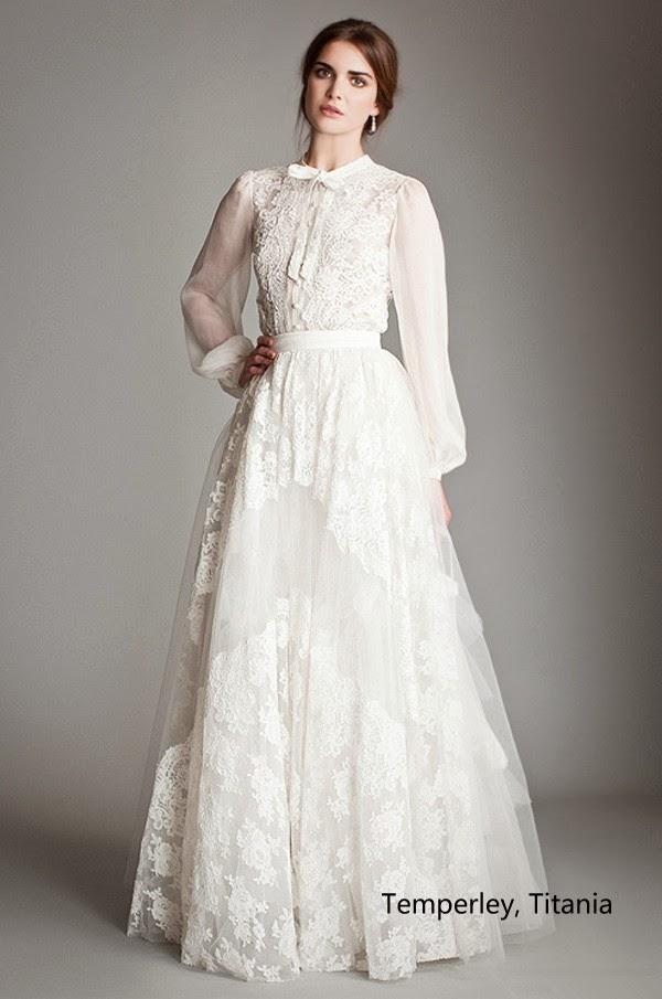 Long Sleeve Vintage Wedding Dress