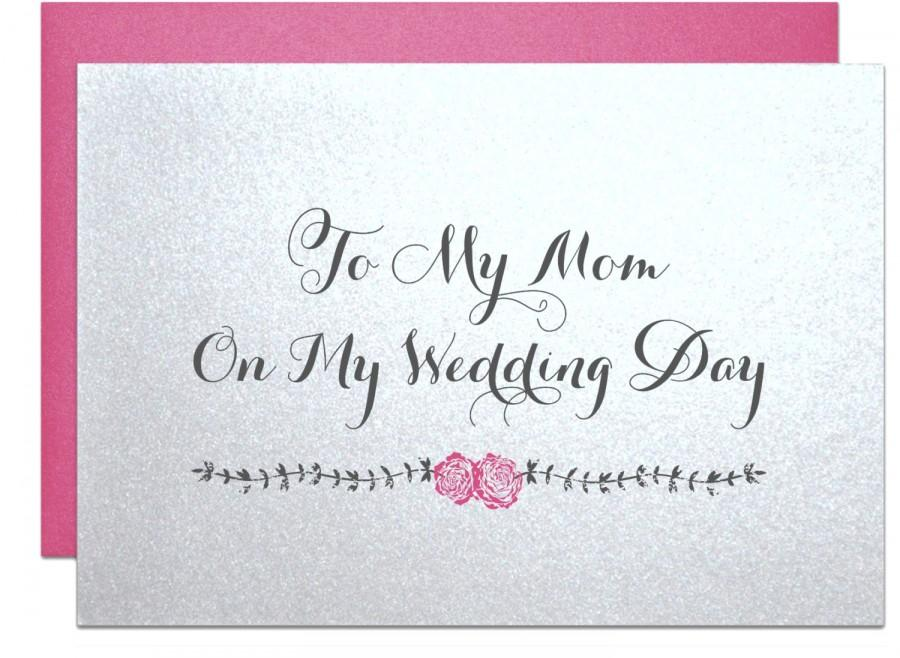 Gift For Mom On My Wedding Day : Wedding Card For Mother Of The Bride Groom To My Mom Gift On