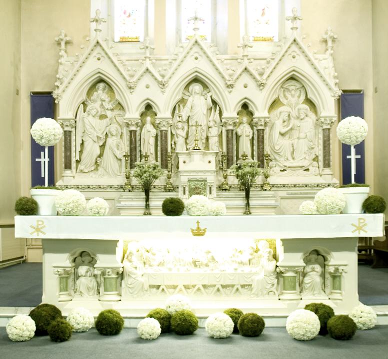 Wedding Church Flowers Altar Decorations Emasscraft