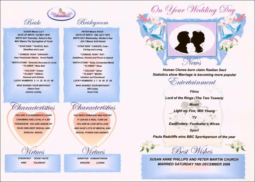 Wedding Date Gift Ideas: Wedding Day Gifts