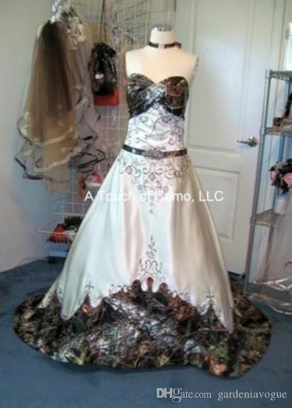 Camo wedding dress plus size
