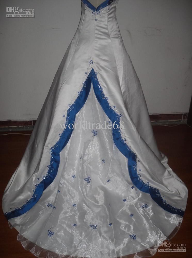 Blue Wedding Dress Colors : Wedding dress with color blue