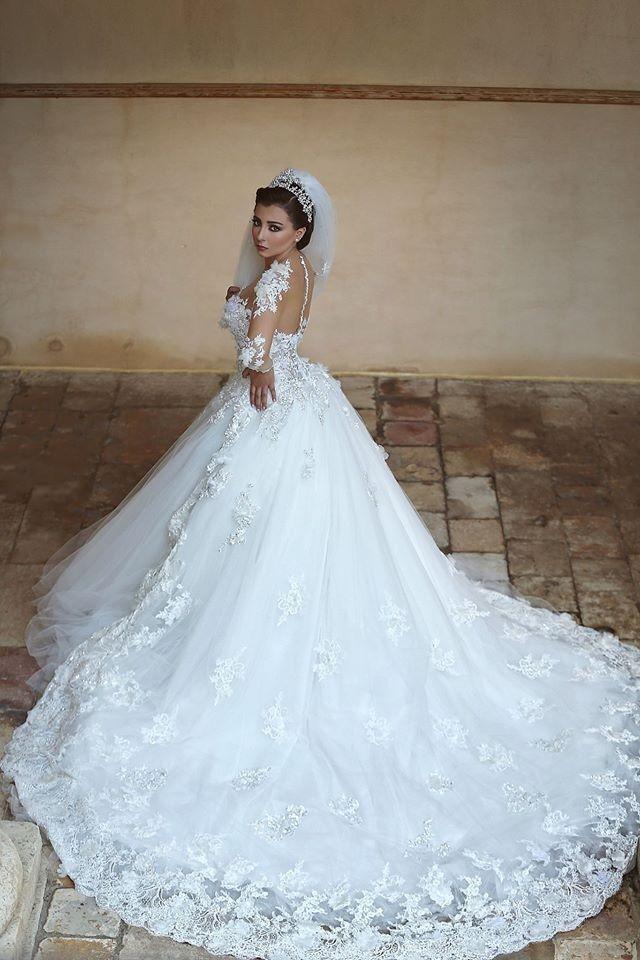Wedding Dress Detachable Train