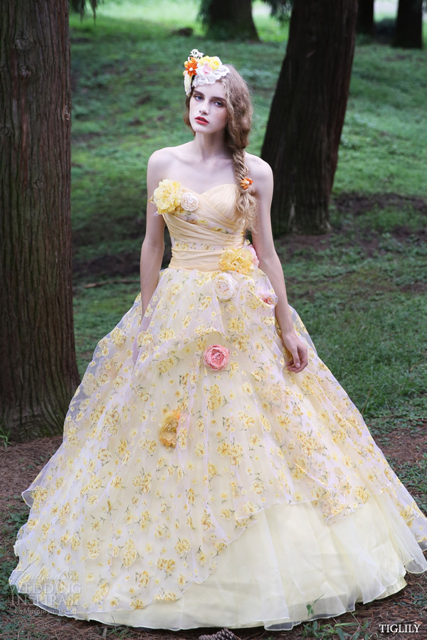 Yellow Wedding Gowns