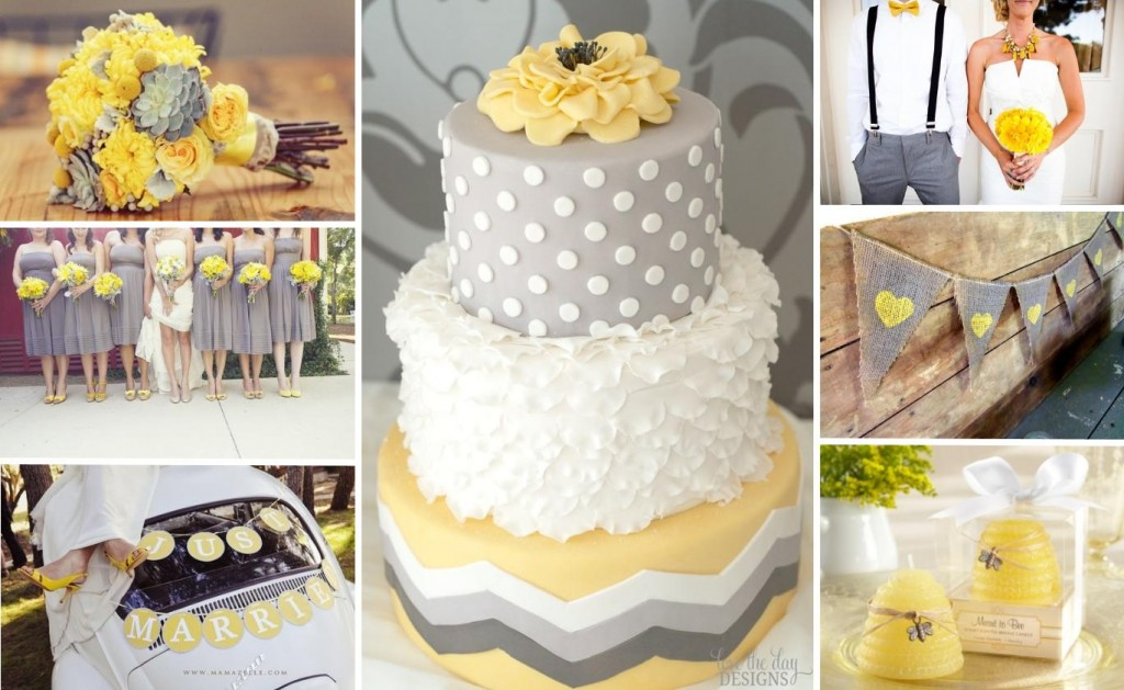 Gray And Yellow Wedding Ideas