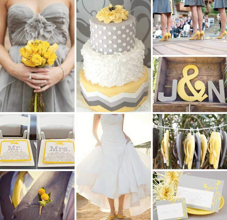 Beautiful grey and yellow wedding colors photos styles ideas grey and yellow wedding reception choice image wedding decoration junglespirit