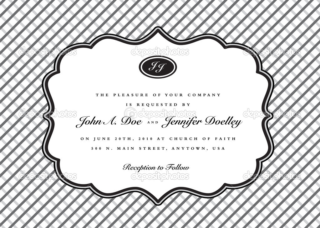 wedding invitation frame vector