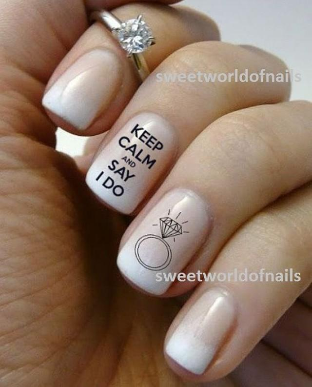 Nail Art For Weddings Wedding Water Decals Transfers I Do Nails Prinsesfo