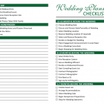 Wedding Preparation Checklist