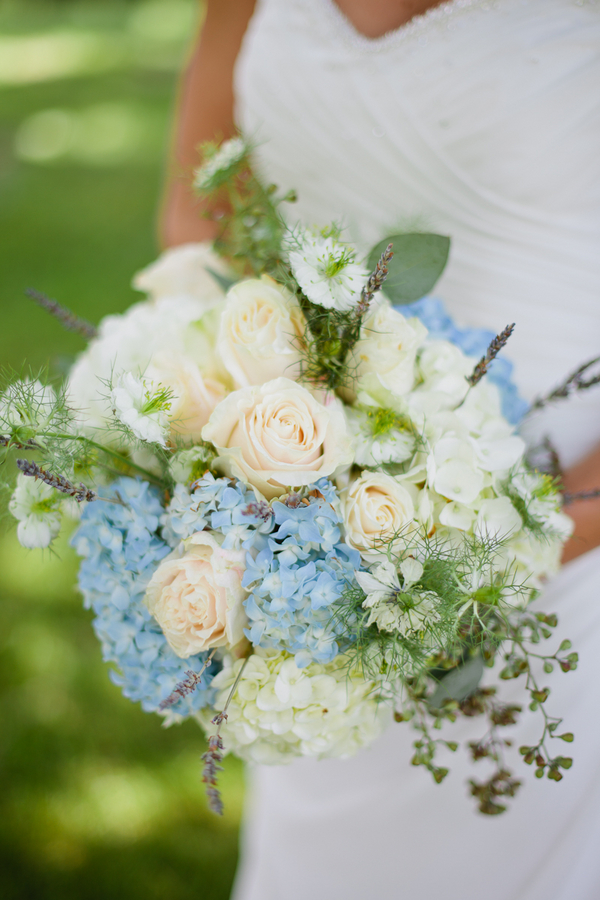 White And Blue Wedding Bouquet Somethingblue For A