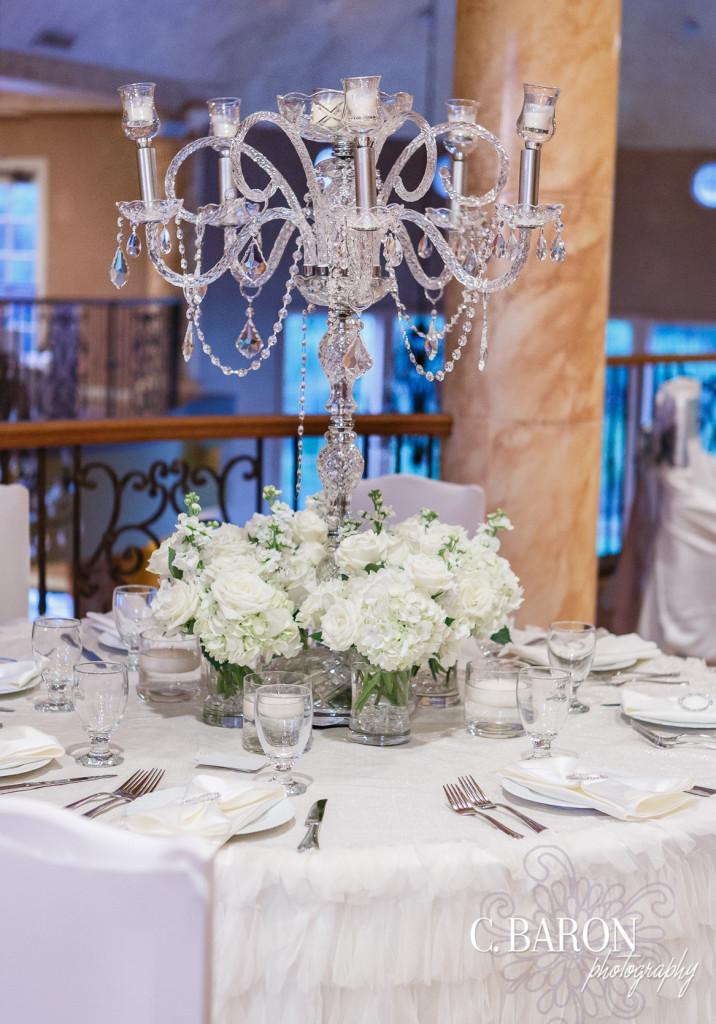 Wedding centrepieces candelabra