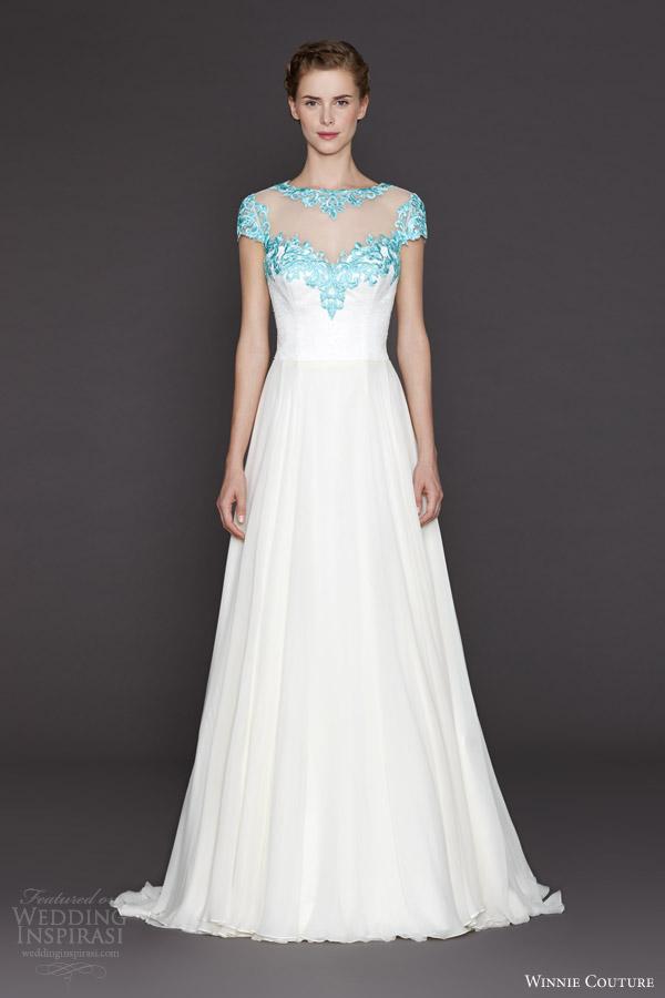 Wedding Dress Pastel Colors