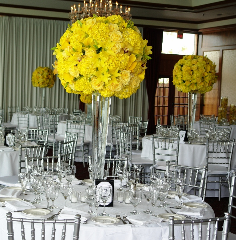 Yellow and gray wedding decorations yellow decoration for wedding junglespirit Gallery