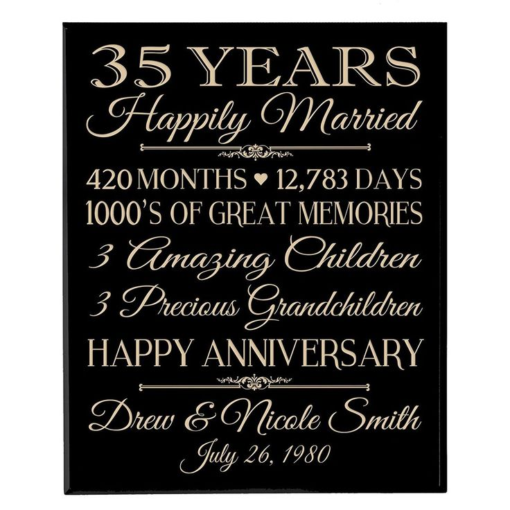 35 Wedding Anniversary Gift Ideas For Parents : 1000 Ideas About 35th Wedding Anniversary On Emasscraft Org