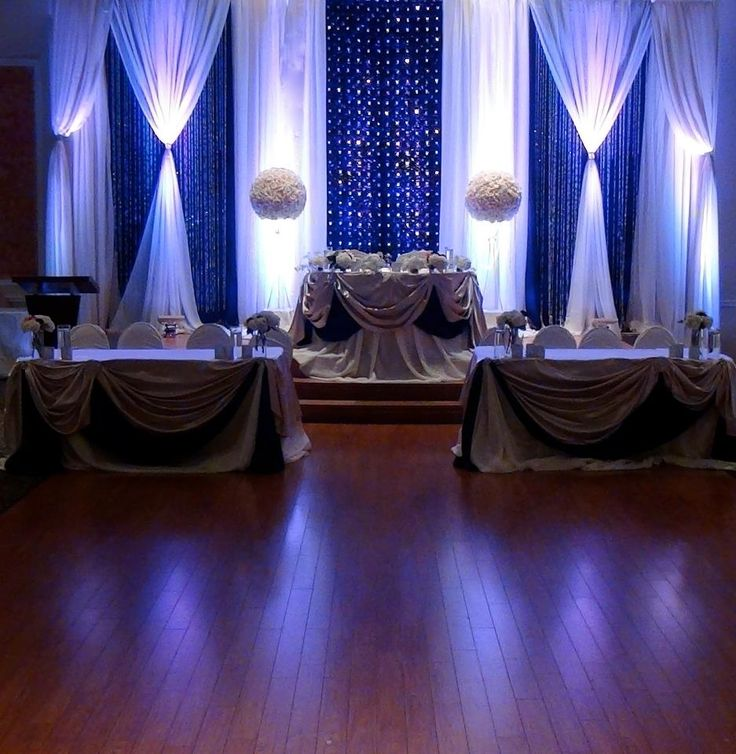 Royal blue wedding decor for Royal decoration