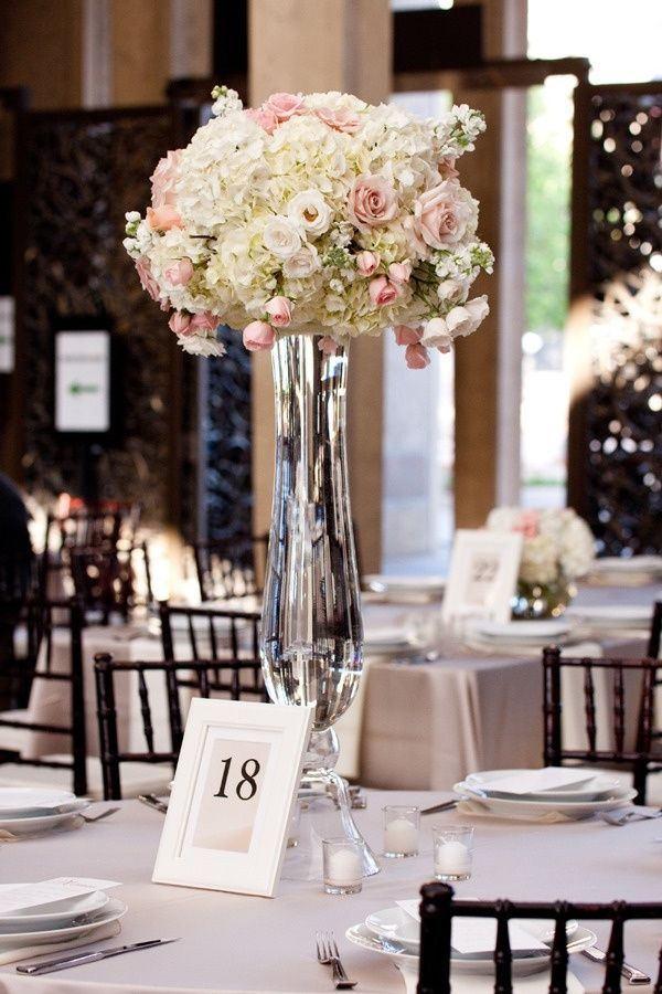 Centerpiece vases trumpet for wedding full image