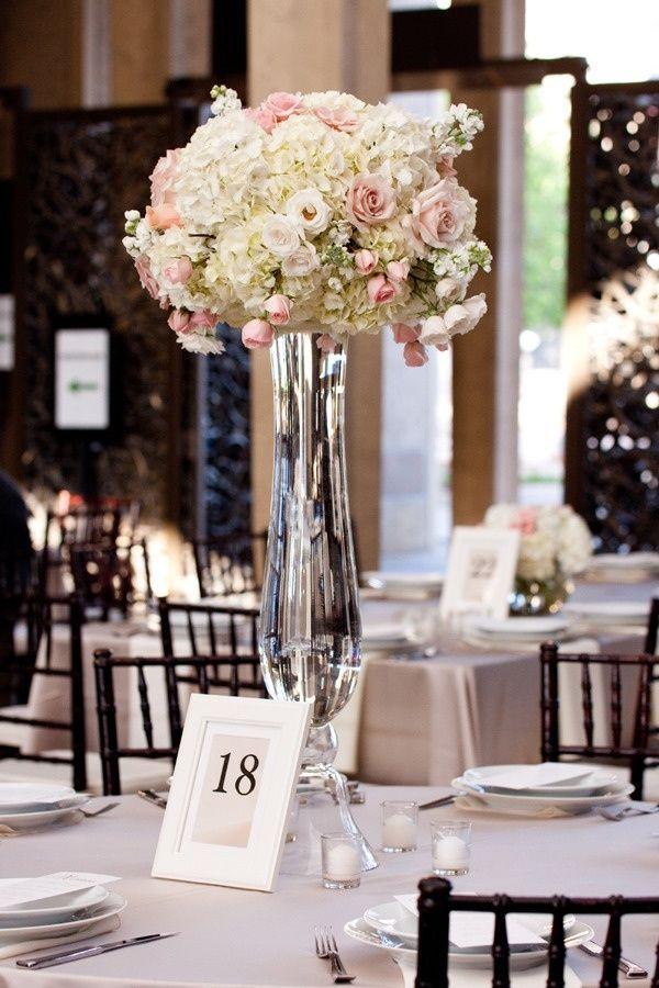 Centerpiece vases trumpet for wedding full image