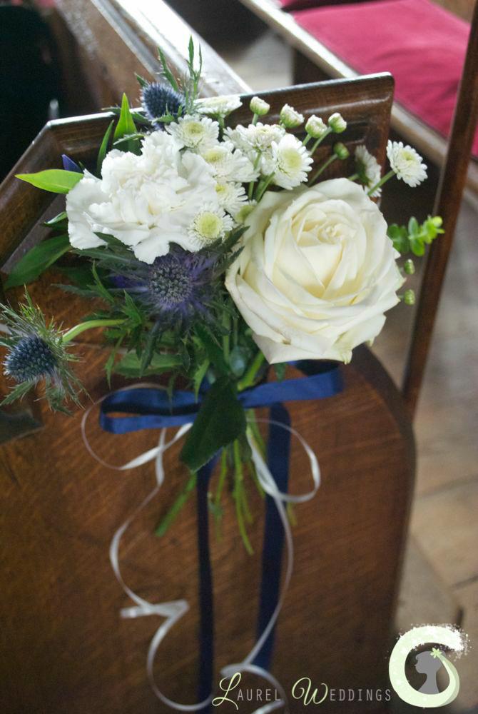 church pew ends wedding flowers. Black Bedroom Furniture Sets. Home Design Ideas