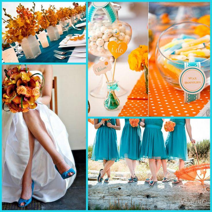 1000 Images About Teal Blue Orange Wedding Ideas
