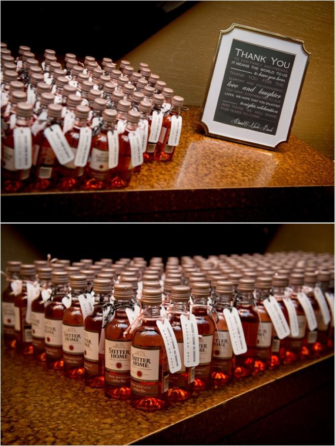 Mini Wine Wedding Favors