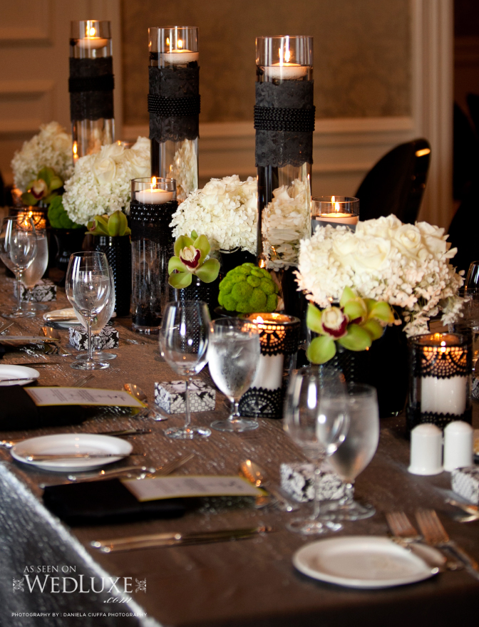 Black And Silver Wedding Reception