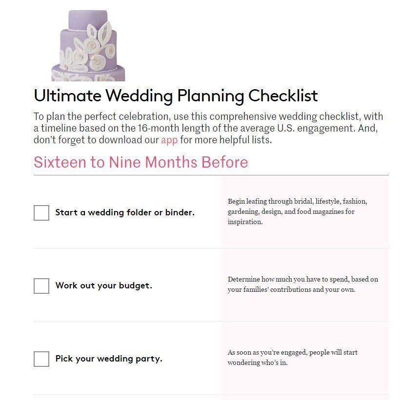 Simple Wedding Planning Checklist: Real Simple Wedding Checklist