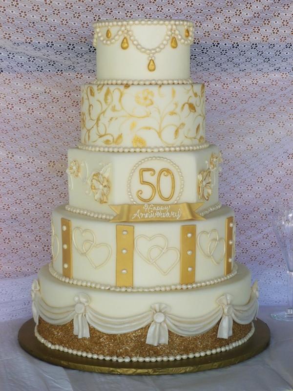 50th Wedding Cakes
