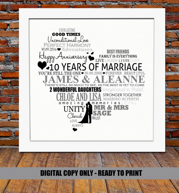 Best 10th Wedding Anniversary Gift Ideas For Couple Pictures