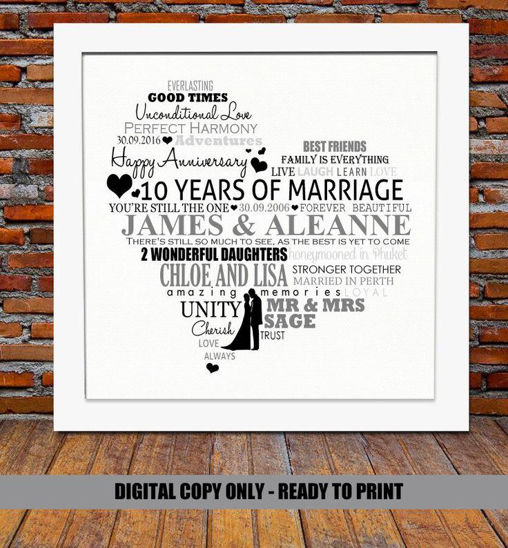 10 Year Wedding Anniversary Gifts