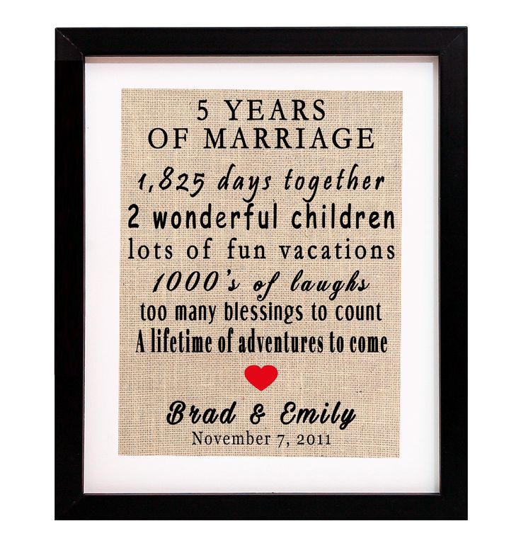Best 5th Wedding Anniversary Gift Ideas: 5yr Wedding Anniversary