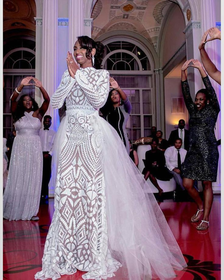 Nigerian Wedding Gowns: African White Wedding Dress