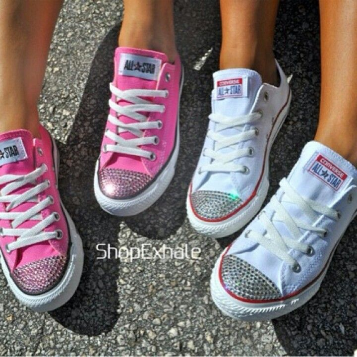Attractive Bedazzled Converse For Wedding XP63